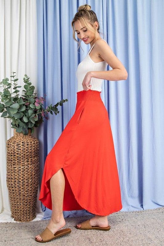 Be Amazing Maxi Skirt - Tomato