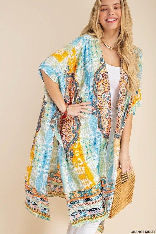 Out For The Day Kimono - Orange