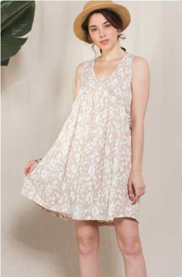 Reg/Plus Havin' A Great Day Dress - Taupe