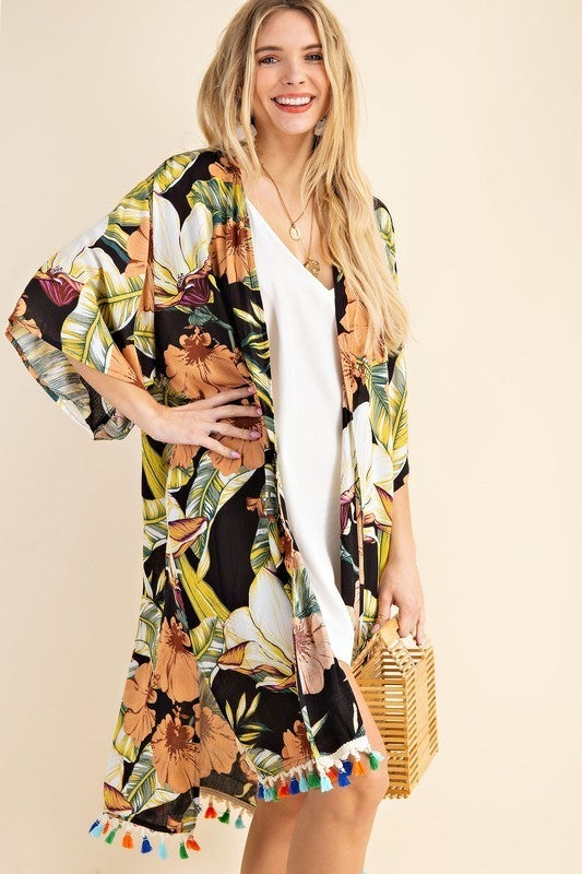 Be Brave Kimono - Black