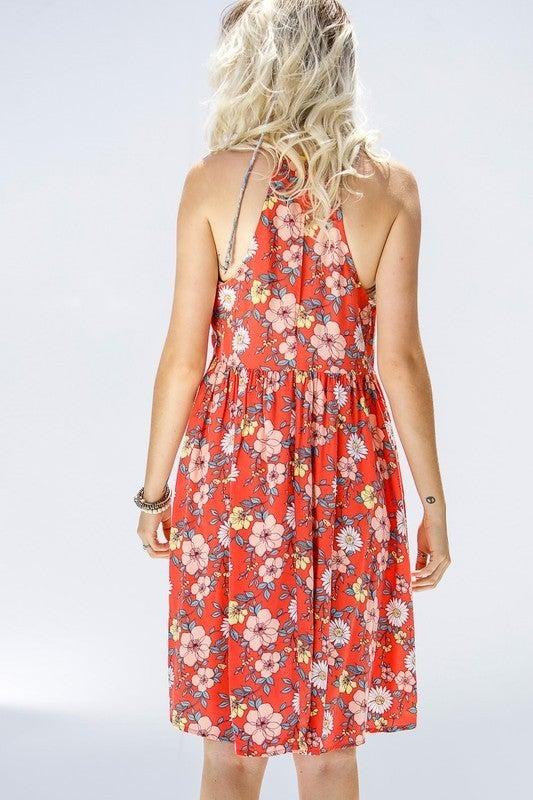 Got Me Dreaming Dress - Coral