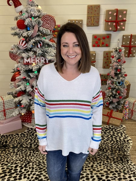 Sweet Sunshine Days Striped Sweater