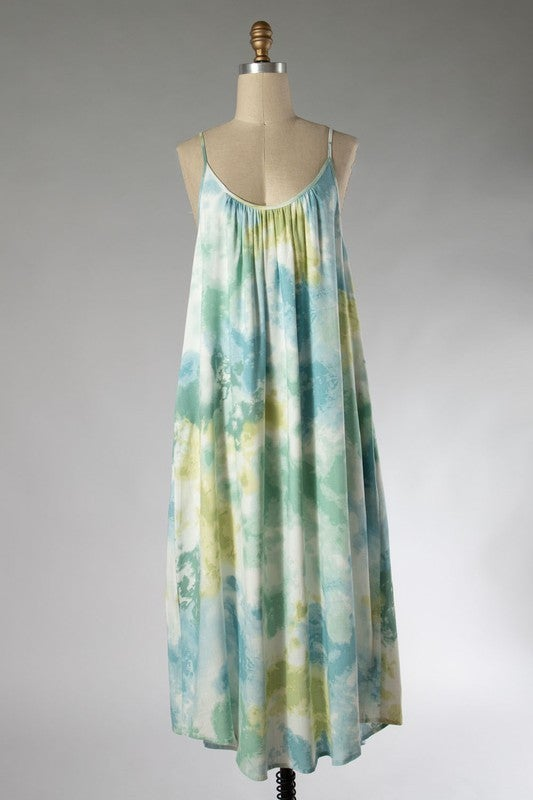 Simply Beautiful Sun Dress - Turquoise/Green