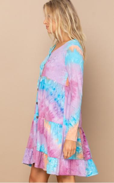 Reg/Plus Wildest Dreams Tie Dye Dress