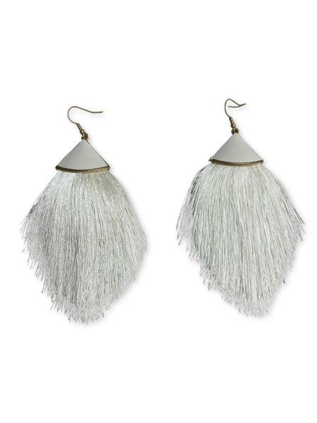 Center Stage Earrings - White