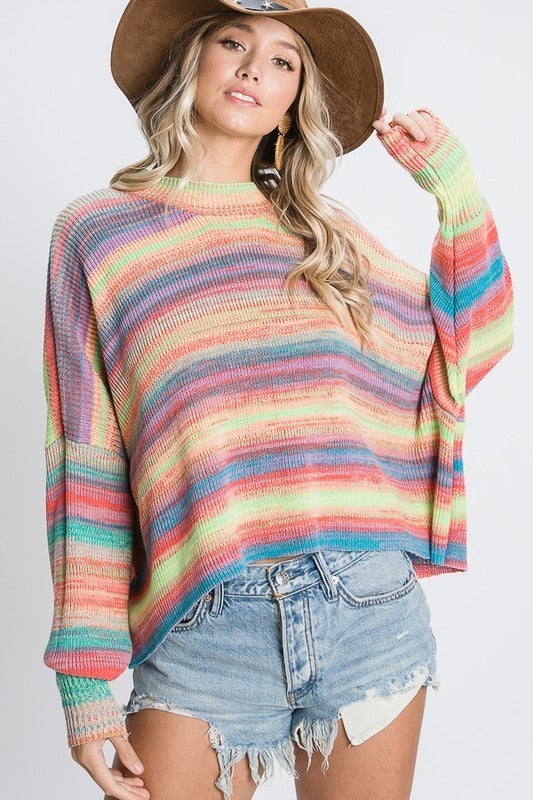 Stripes for Days Sweater - Rainbow