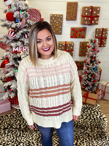 Warm and Cozy Striped Sweater Top
