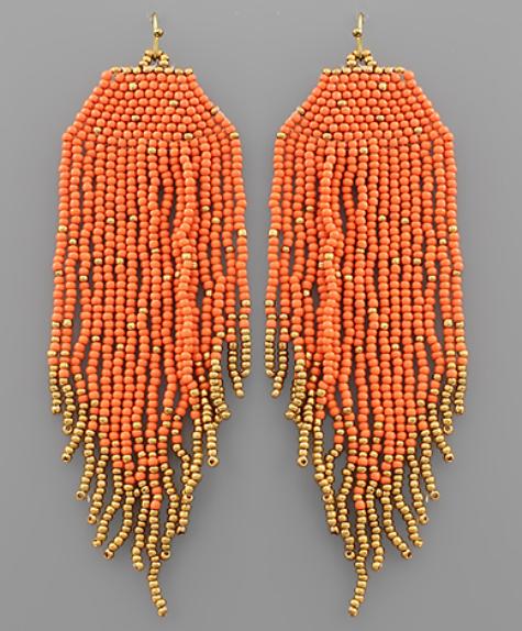 No Surprises Earrings - Orange