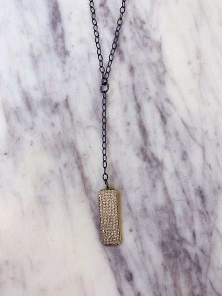 Jennifer Thames Gold Plate Necklace