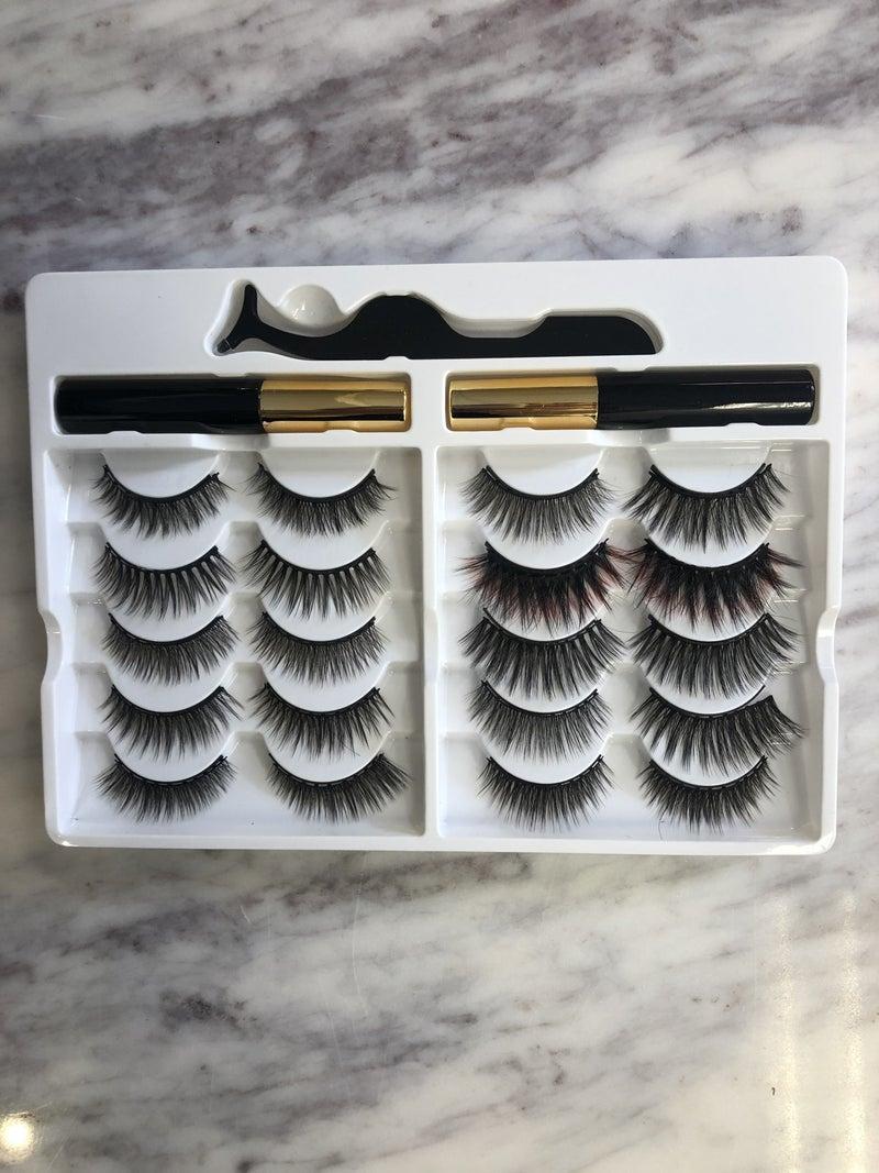 Magnetic Eyelashes and Eyeliner Set