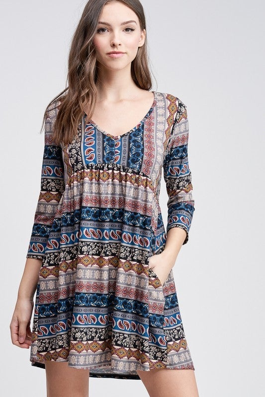 Pretty In Paisley Dress