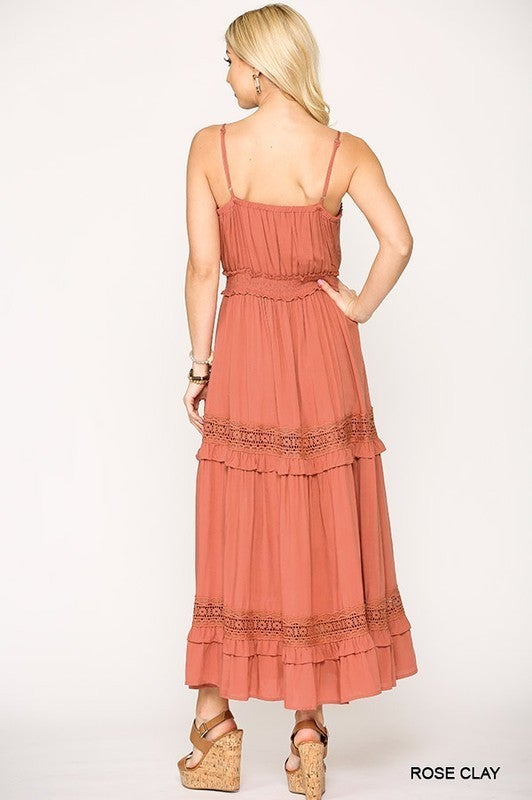 Be Blessed Maxi Dress - Rose