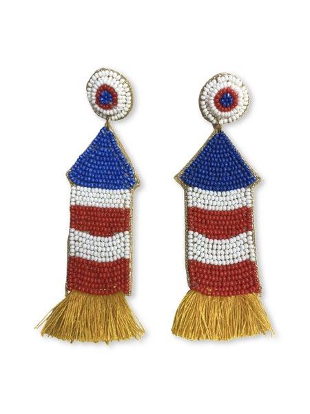 Rockets Away Earrings - Multi