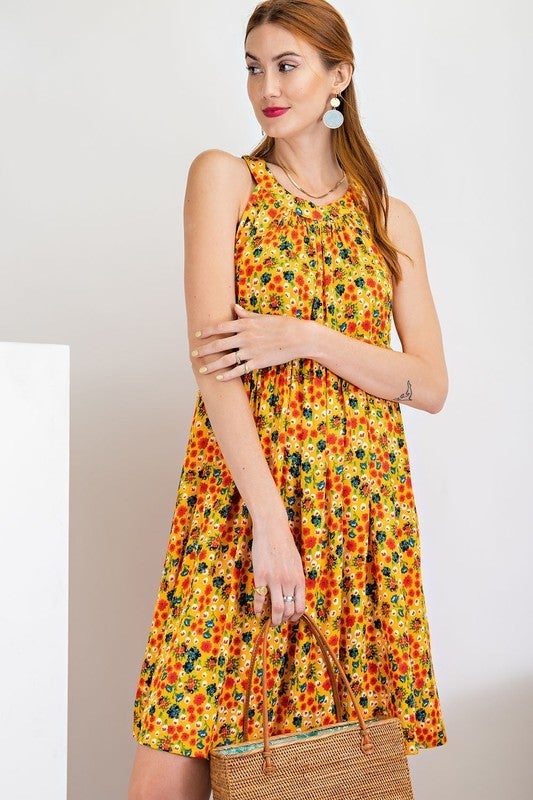Picnic Dates Dress - Sunflower