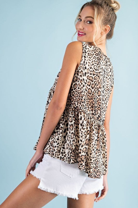 Fun and Flirty Leopard Top