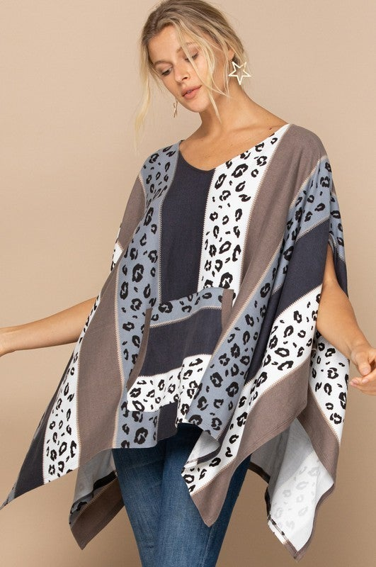 Reg/Plus Fancy And Free Poncho Top