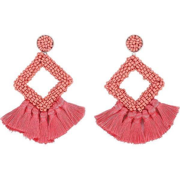 So Frilling Earrings - Pink
