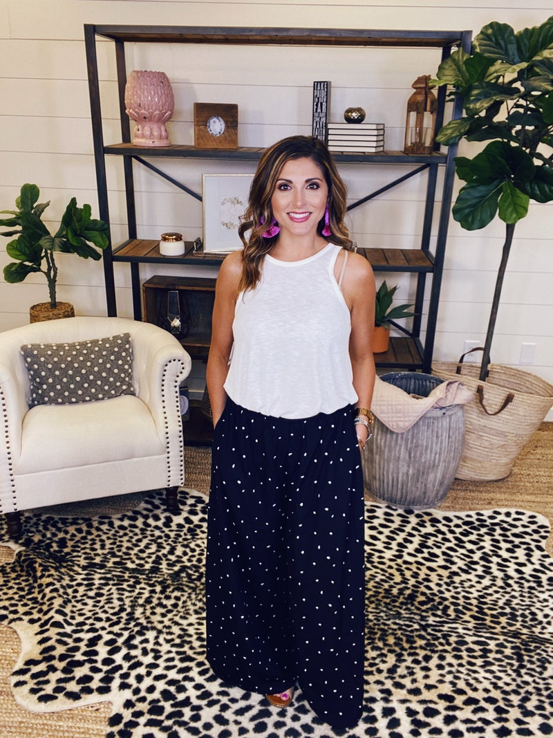 Lost For Words Wide Leg Pants - Black