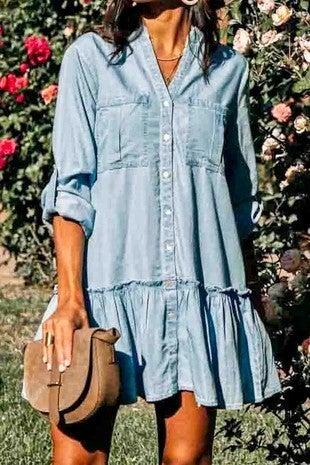Pocketfull Of Sunshine Dress - Sky Blue