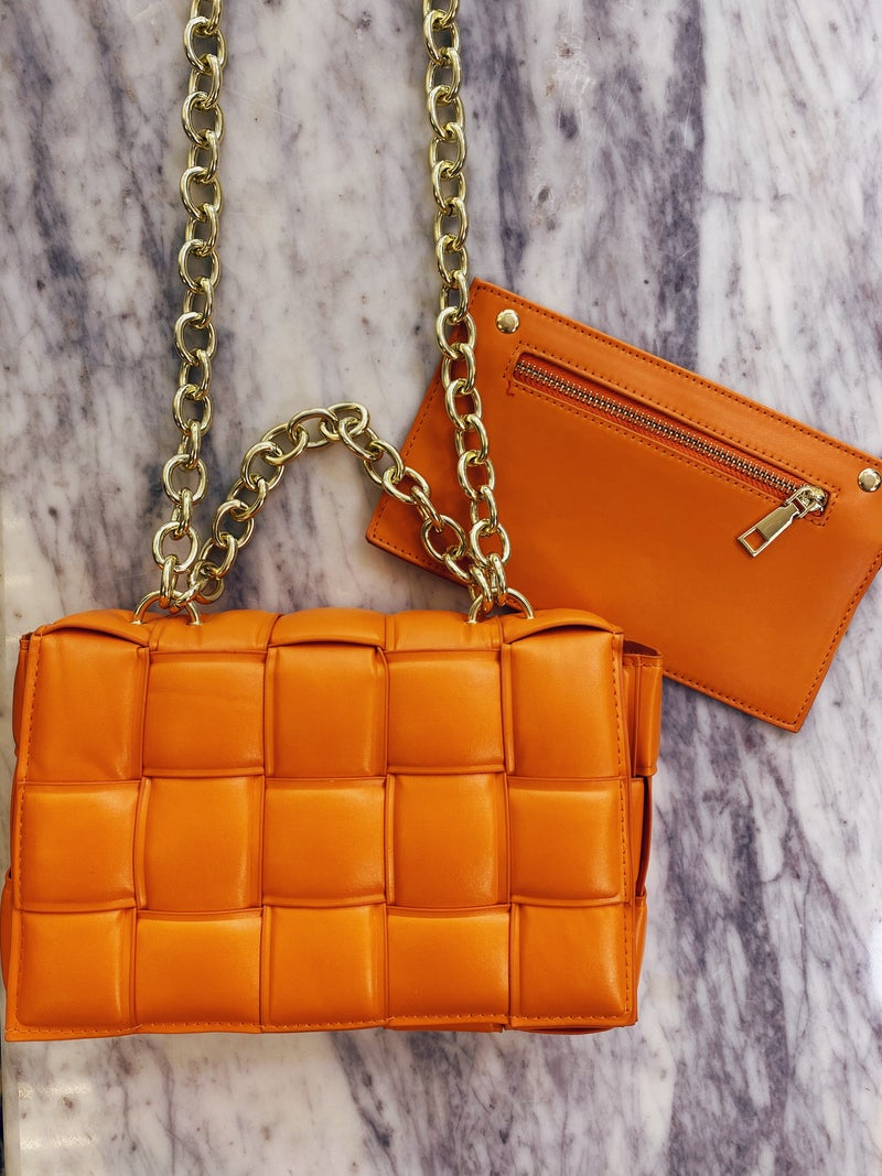 Here And There Purse - Orange