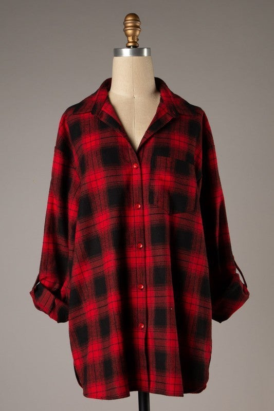 Playing In Plaid Tunic - Red