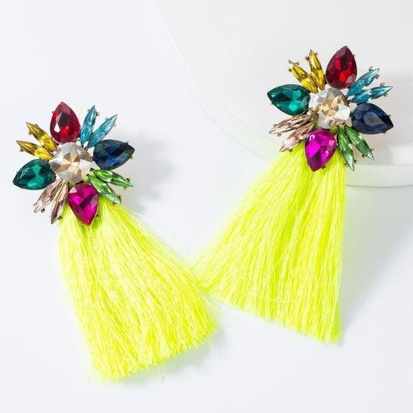 Best Wishes Earrings - Yellow