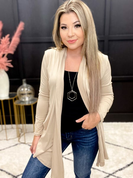 Solid Butter Soft Light Weight Cardigan- Multiple Colors (S-3XL)