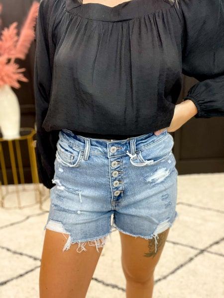 Vervet High Rise Button Up Shorts (Sizes S-L)