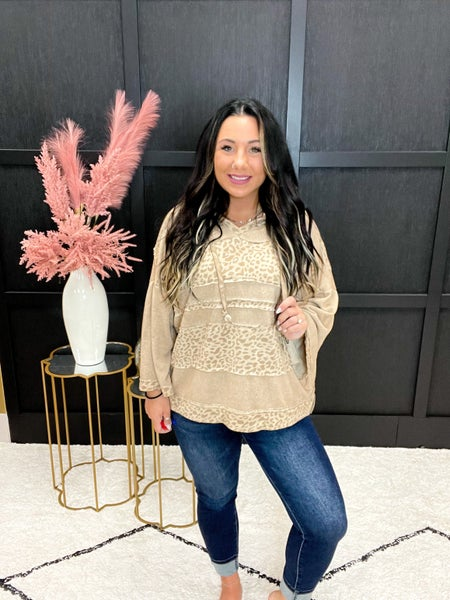 Leopard Relaxed Fit Hoodie (Sizes S-L)