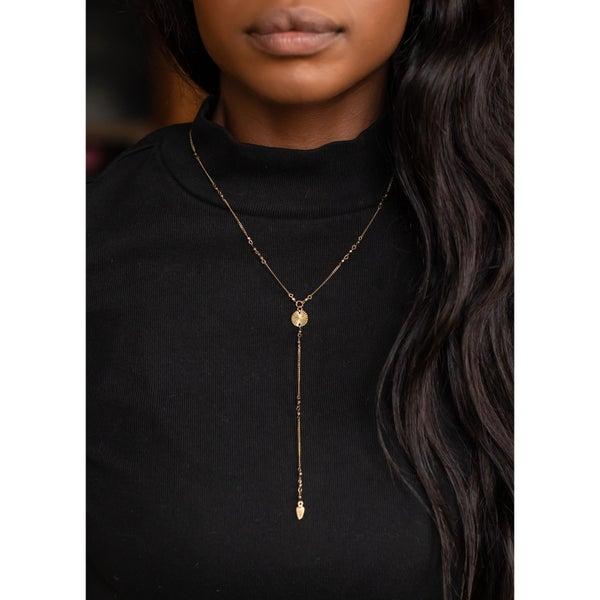 Lariat Antique Gold Necklace