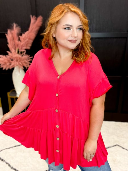 Flowy Button Up Swing Tunic Multiple Colors (Sizes S-3XL)