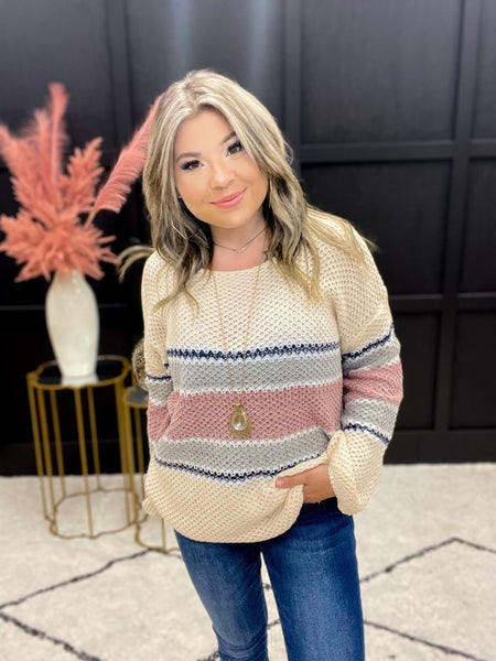 The Everyday Striped Sweater (S-XL)