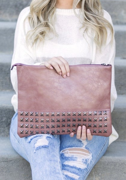 Lux Studded Clutch