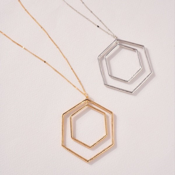 Double Hexie Long Necklace
