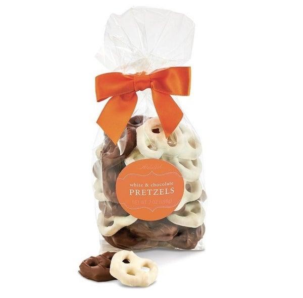 Autumn Milk & White Chocolate Covered Pretzels
