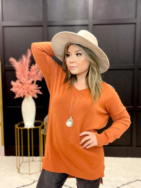 Front Seam Detail Sweater - Multiple Colors -Sizes SM & ML >> Fits up to size 18