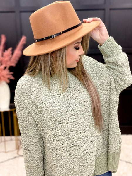 Buckle Accent  Fedora Multiple Colors