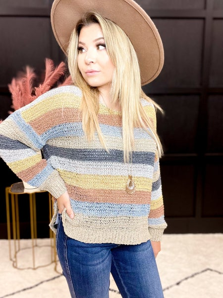 Multi-Color Oversized Sweater (Sizes S-3XL)