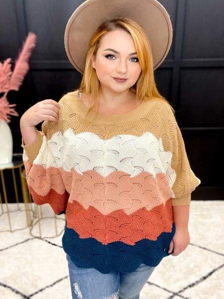Color Block Cozy Sweater (S-3XL) Multiple Colors