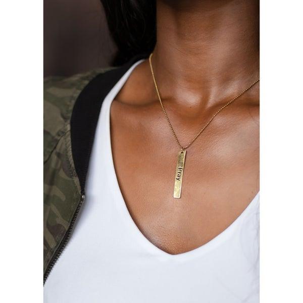 Pray Bar Necklace