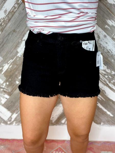 Wanna Betta Butt Frayed Hem Shorts