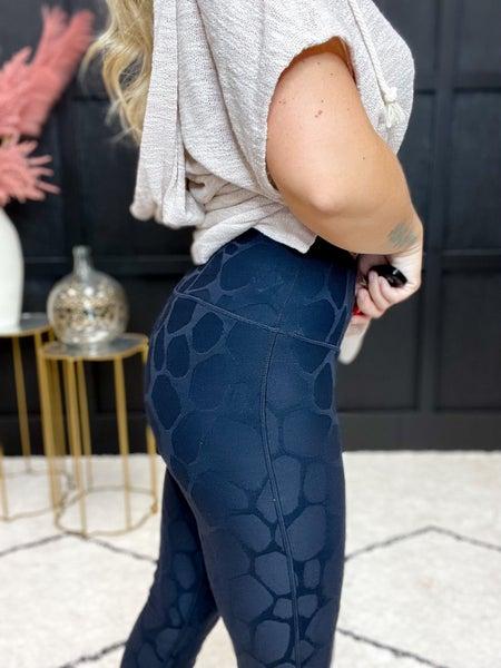 Textured Tactel High Waist Leggings (Sizes S-L)