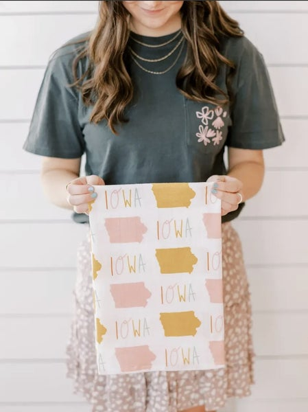 Iowa Full Pattern Flour Sack Towel