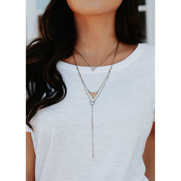Triangle Layered Necklace