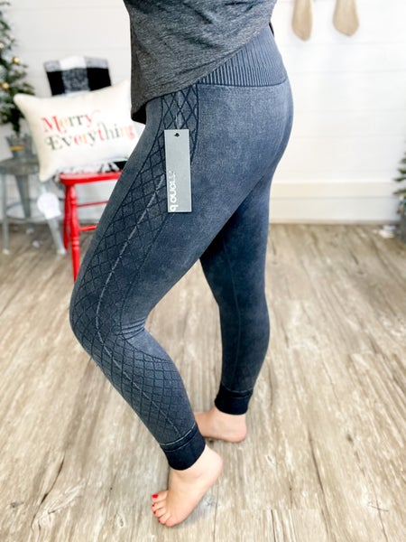 Mineral Washed High Waist Leggings (Sizes S-3XL)