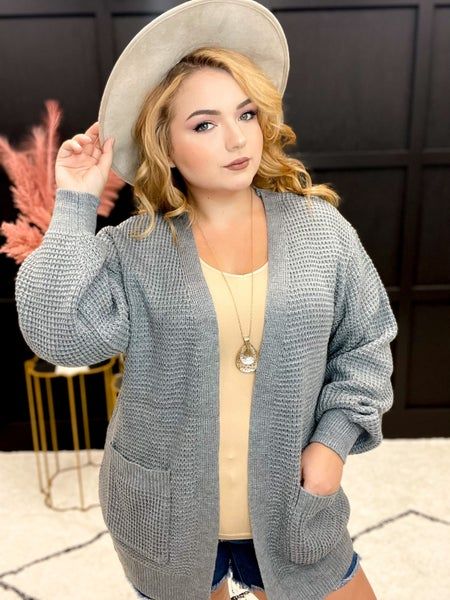 Open Waffle Sweater Cardigan Multiple Colors (XS-3XL)