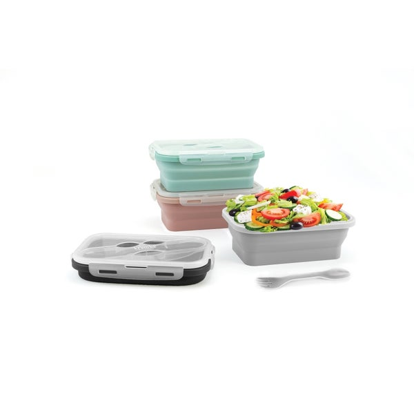 Kitchen Essentials Silicone Lunch Container Multiple Colors