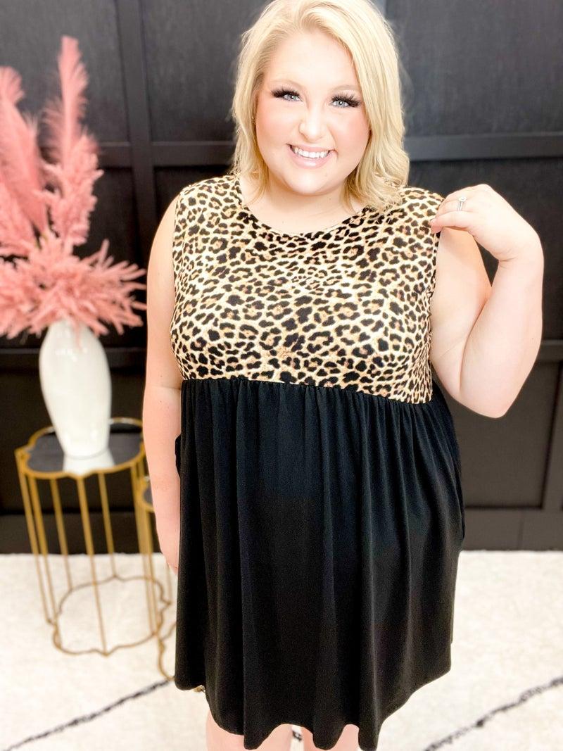 Sleeveless Cheetah Print Dress (Sizes S-3XL)
