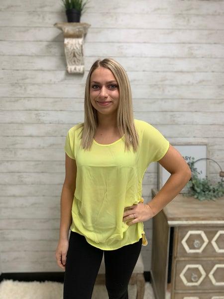 Business Women Yellow Top