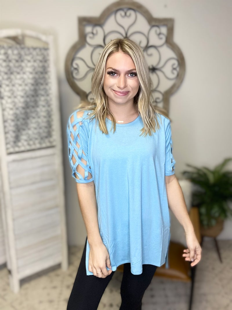 Must Need Top- Milky Blue